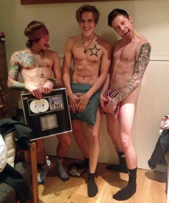 First mcfly, now jedward strip take note one direction, the wanted jls