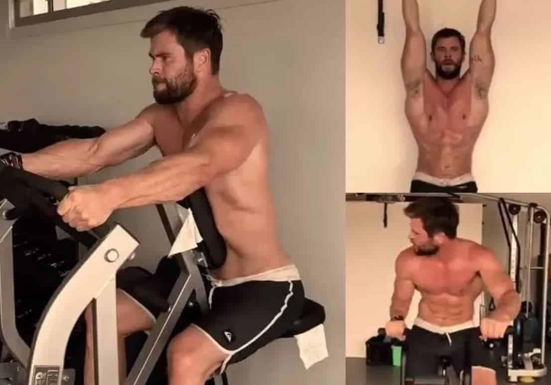 Chris Hemsworth gym