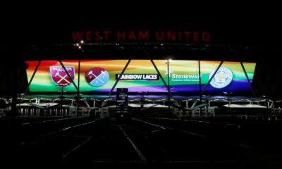 Le London Stadium aux couleurs arc-en-ciel