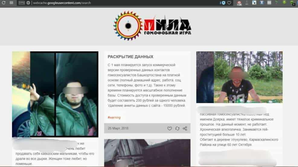 russia website chechnya saw