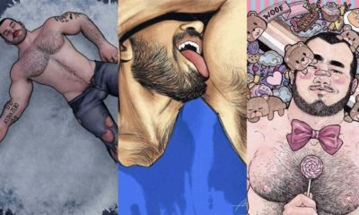 queer artist drawing